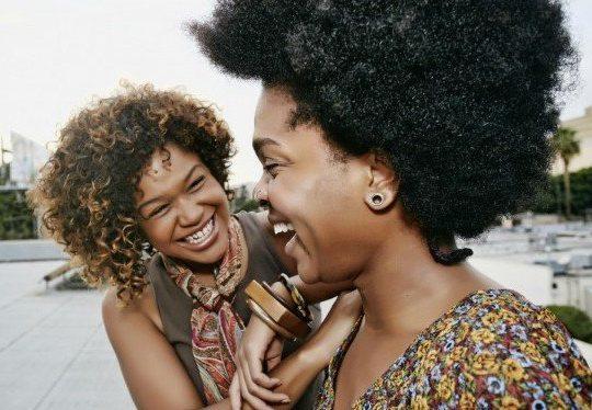 Atlanta-Two-Black-Women-Natural-Hair-Laughing